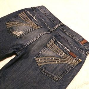 "7 For All Mankind ""Dojo Grommet"" SZ 27 Inseam 30"""